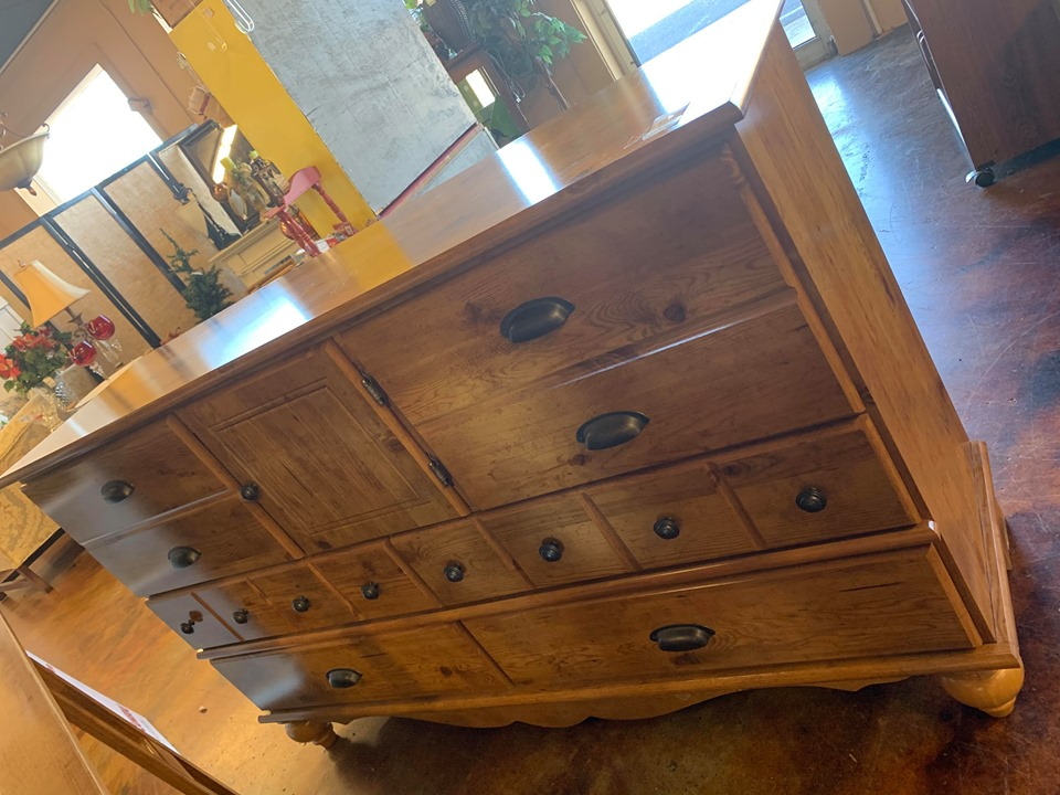 upcycled dresser made into kitchen island