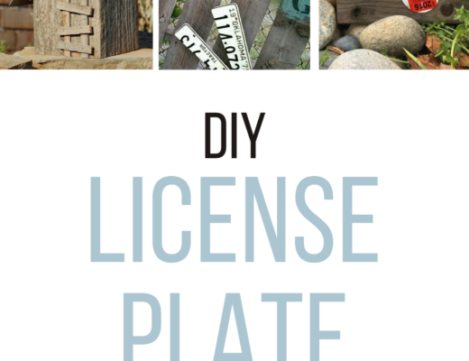 pinterest diy license plate pin