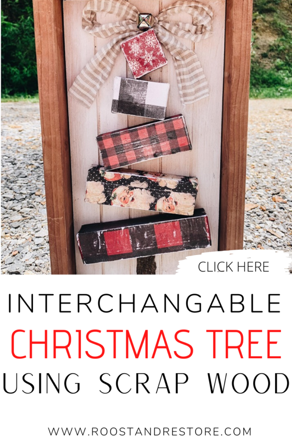 PINTEREST IMAGE WITH SCRAP WOOD BLOCK CHRISTMAS TREE