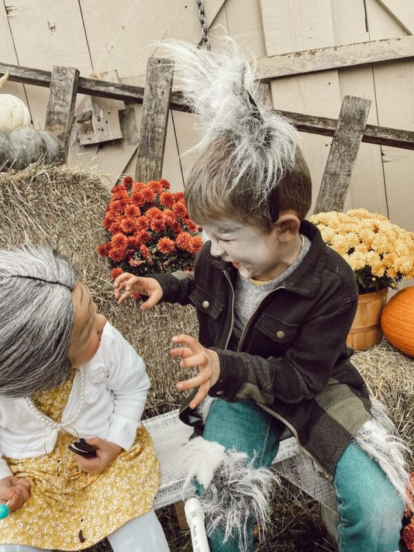 diy halloween costume wolf and granny home made costumes