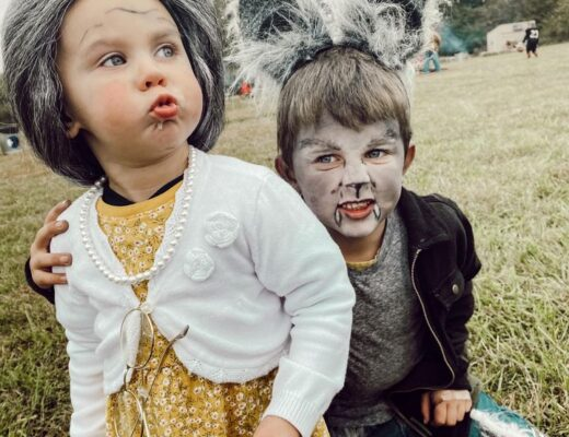 diy wolf costume and granny