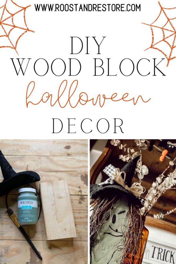 diy scrap wood decoration for halloween