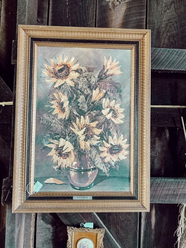vintage sunflower art