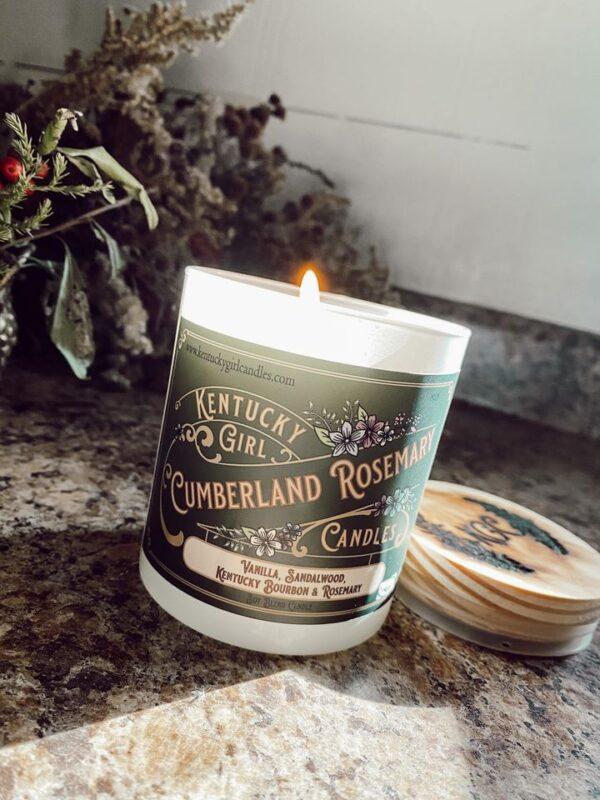 cumberland rosemary handmade candle