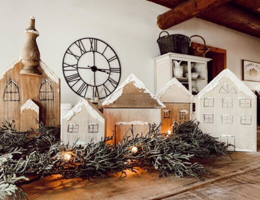 wood block christmas village diy