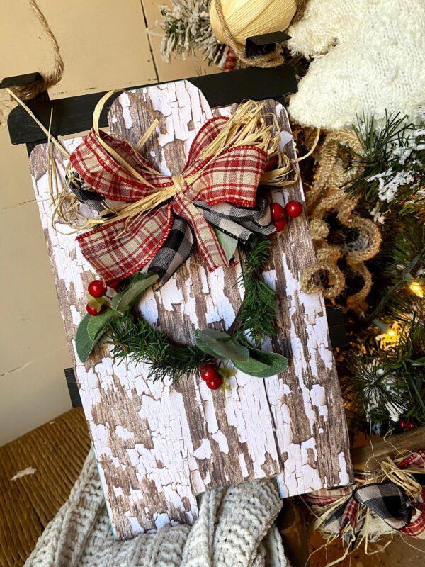 cute and simple dollar tree vintage wood sled