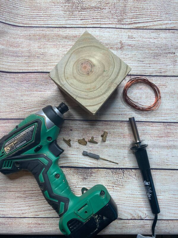wood block picture holder supplies needed