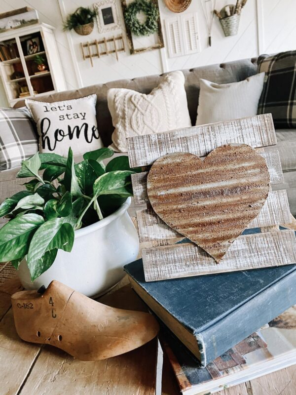 rusty valentines day diy vintage heart
