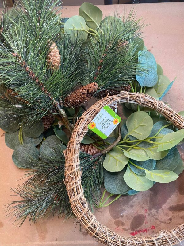 dollar tree winter wreath