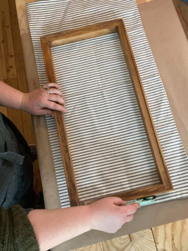 ticking stripe fabric for reverse canvas diy