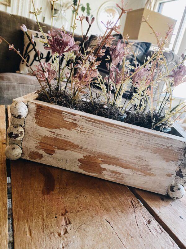 oui jar craft with diy planter box