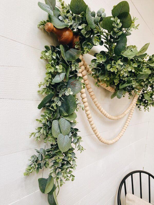 beautiful wood bead wall hanging DIY
