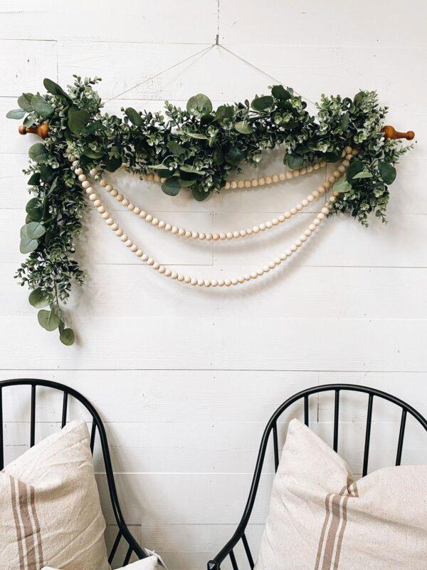 wood bead wall hanging