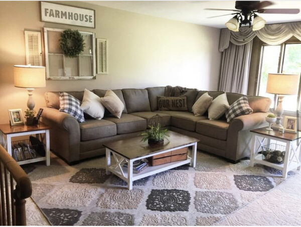 rustic living room sectional