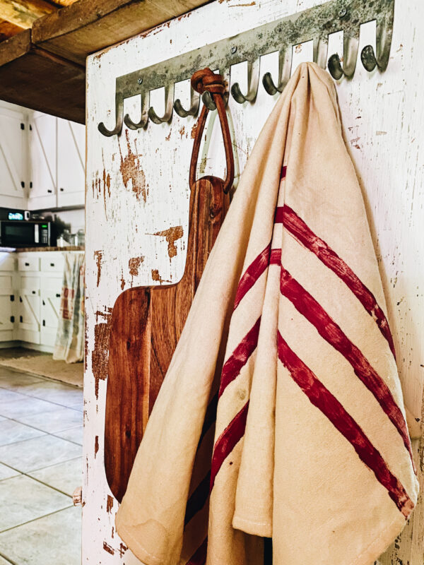 diy americana grainsack tea towel