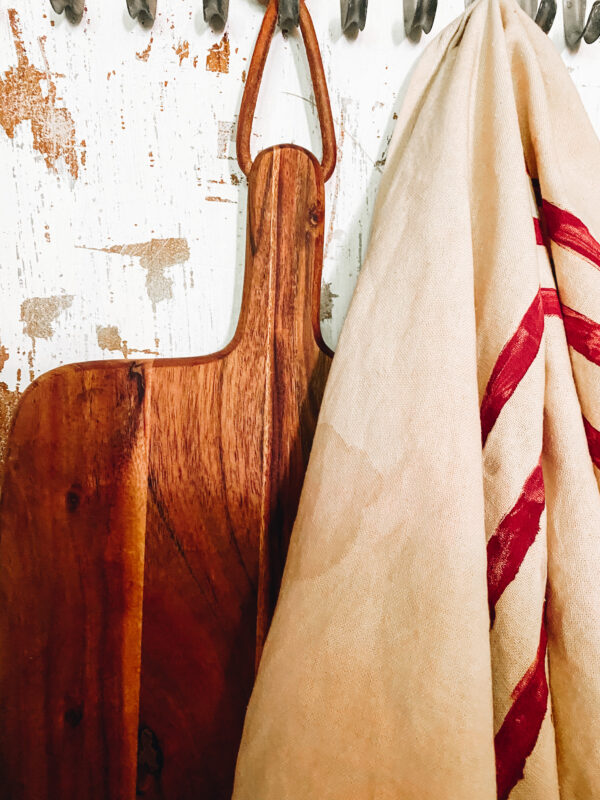 coffee stained diy tea towel