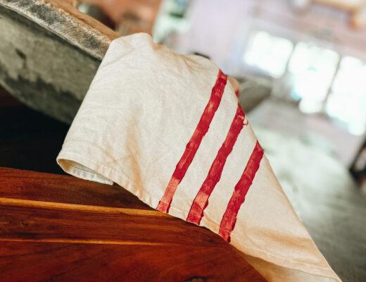easy stamped tea towel