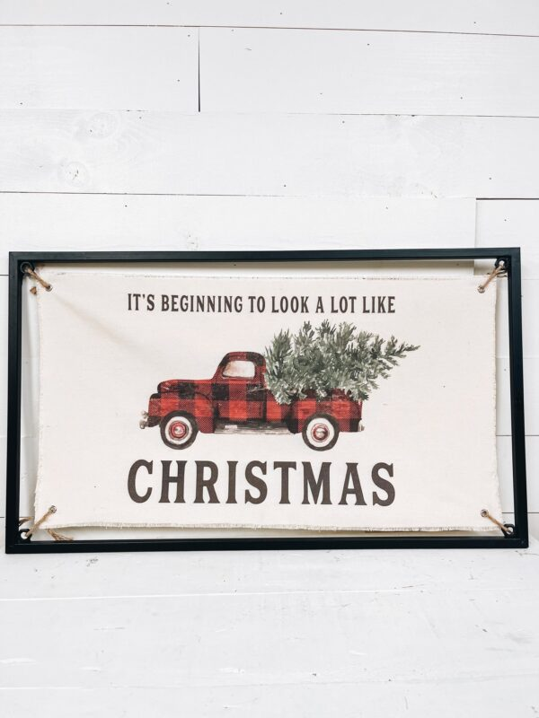 The Homegoods Market - Christmas in July Fabric Sign