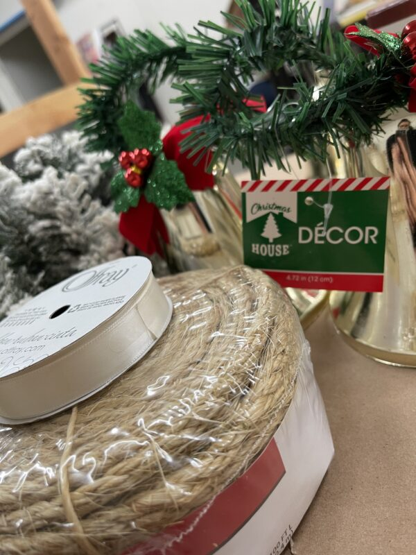 supplies for a dollar tree bell makeover