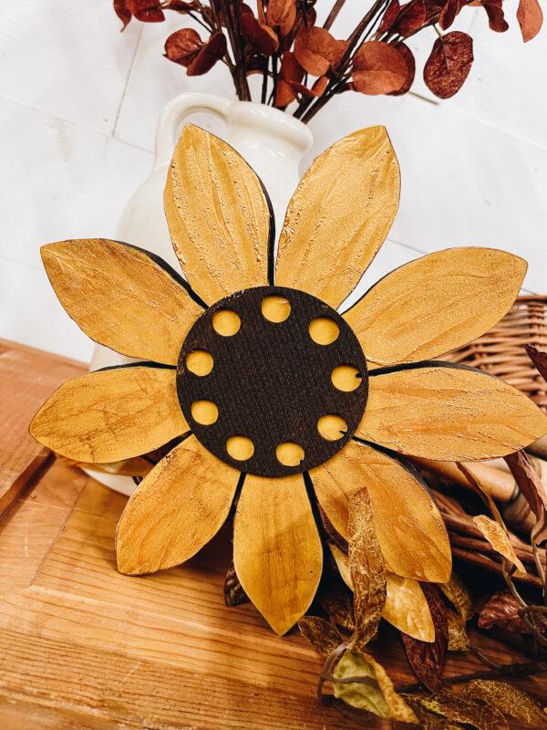 Wood Sunflower Decor - The HomeGoods Market
