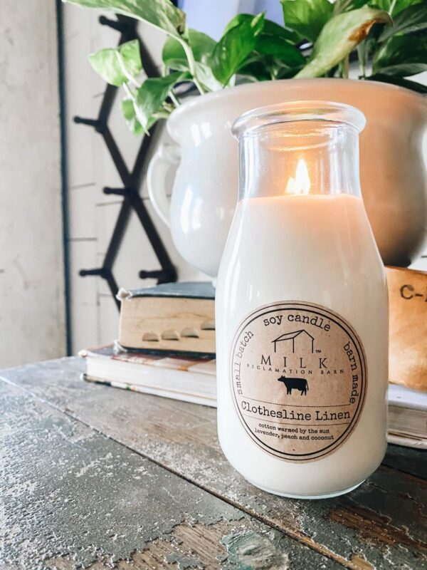 Bright and Sunny Milk Bottle Candle - The HomeGoods Market