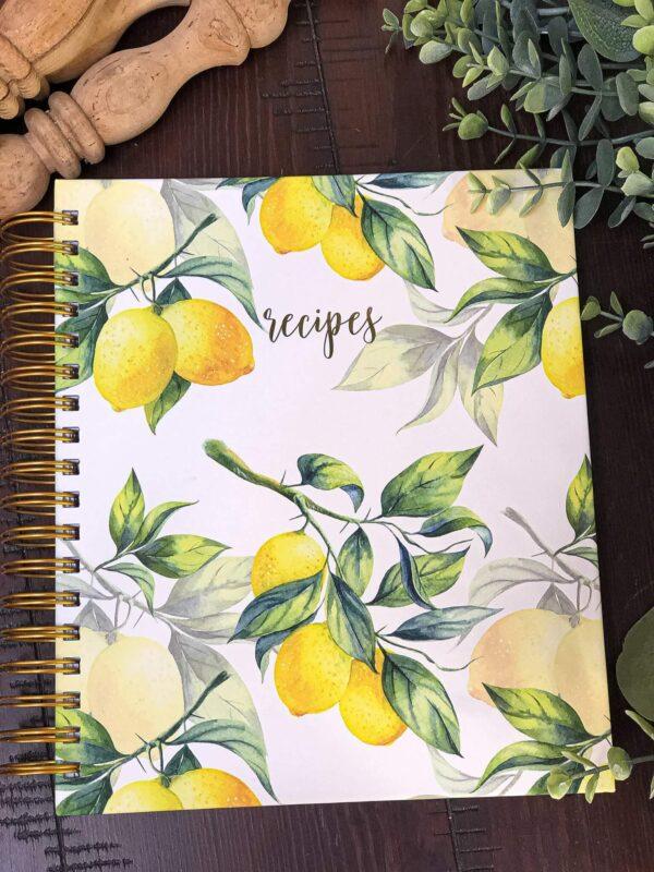 Bright and Sunny Decor Lemon Recipe Book - The HomeGoods Market