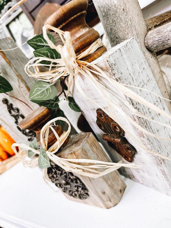 Roost and Restore - Neutral Scrap Wood Pumpkin
