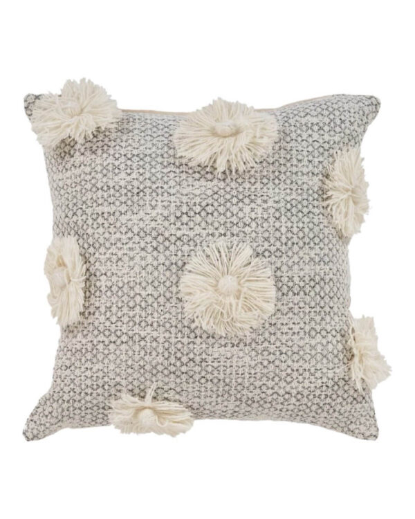 Roost and Restore Home Cozy New Home Arrival - Gray Tassel Throw Pillow