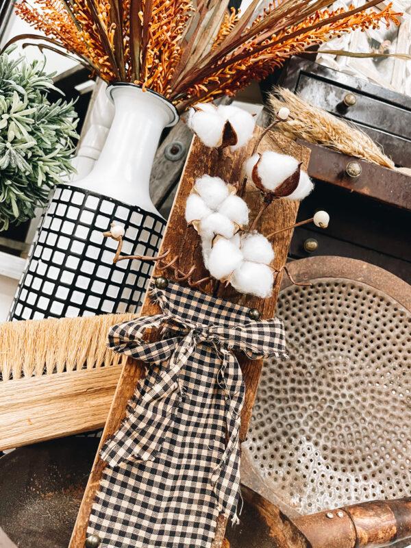 scrap wood cotton stem project